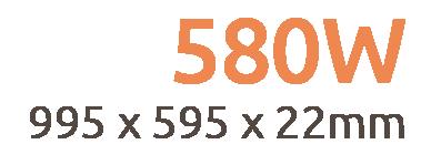 580W NXT Gen Infrared Heating Panel