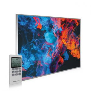 995x1195 Dancing Smoke Picture NXT Gen Infrared Heating Panel 1200W - Electric Wall Panel Heater